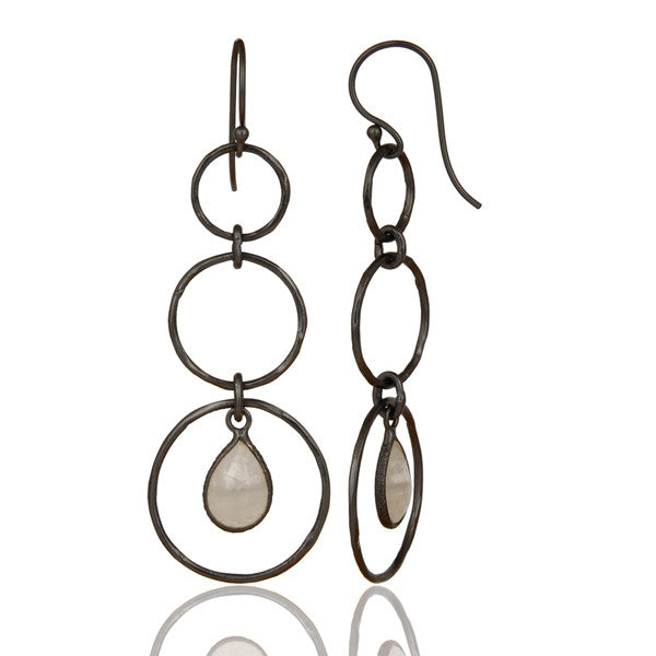 HARPER earrings in oxidized reclaimed sterling silver
