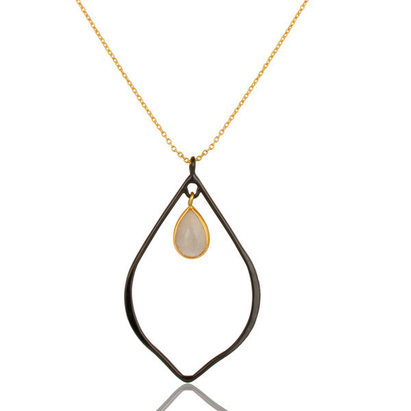 LILY necklace in reclaimed sterling silver + 22k gold vermeil