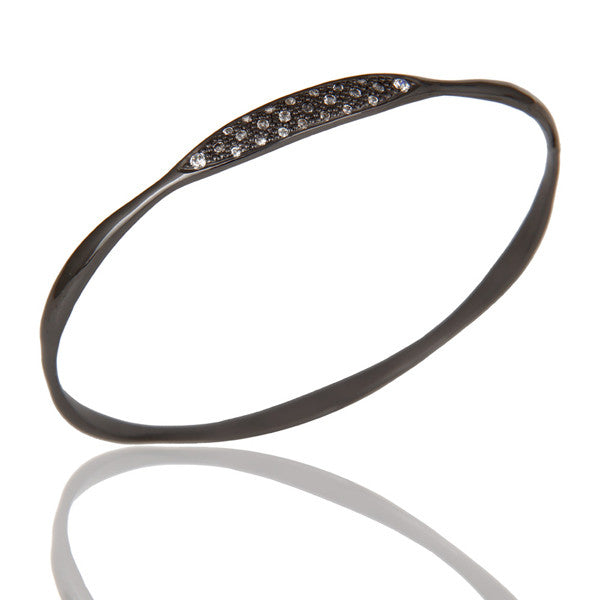 MADISON bangle in oxidized reclaimed sterling silver