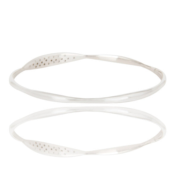 MADISON bangle bracelet in reclaimed sterling silver