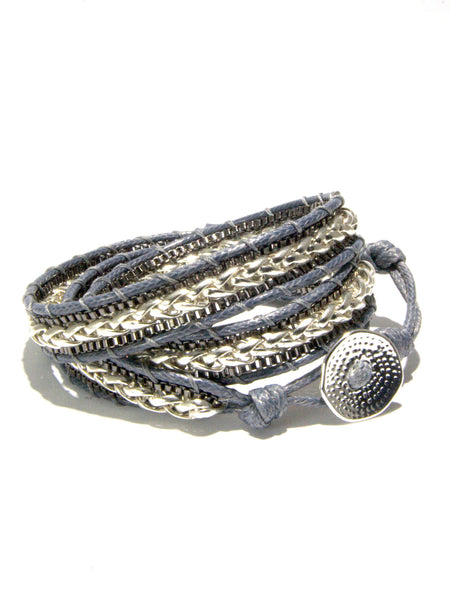 MERCER urban chic monochrome wrap bracelet