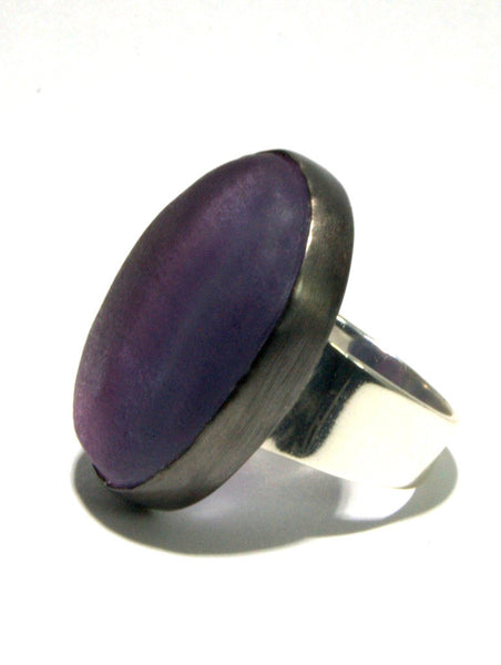 Mixed Metal Rainbow Fluorite Ring