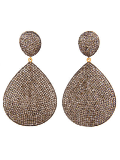Micro Pave Diamond Drop Runway Earrings