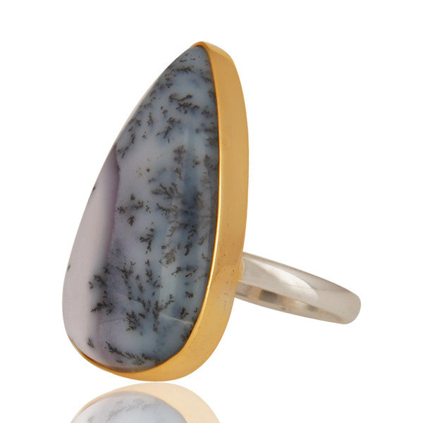 Dendritic Opal In Gold And Silver