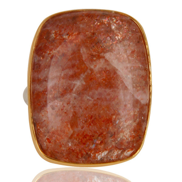 Oregon Sunstone Ring In Mixed Metal