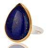 Lapis Lazuli Ring In Mixed Metal