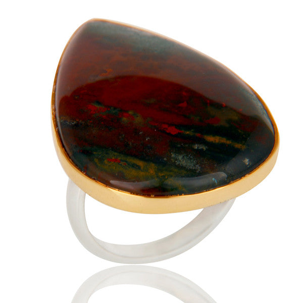 Bloodstone Ring In Mixed Metal