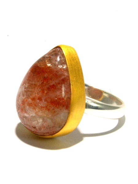 Mixed Metal Oregon Sunstone Ring