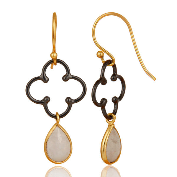 SERENDIPITY earrings in reclaimed sterling silver + 22k gold vermeil