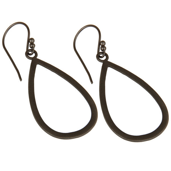 SOHO earrings in oxidized reclaimed sterling silver
