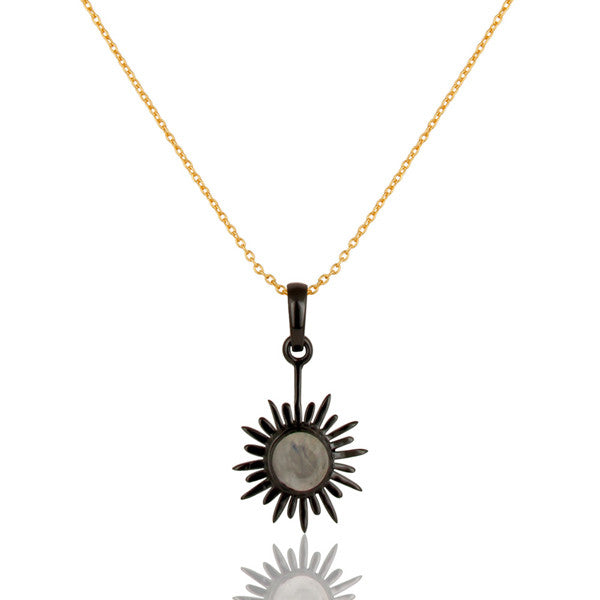 SOLEIL necklace in reclaimed sterling silver + 22k gold vermeil