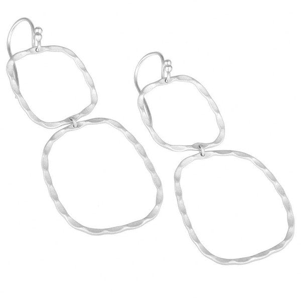 THE BOWERY double drop earrings in reclaimed sterling silver