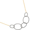 TRIBECA necklace in reclaimed sterling silver + 22k gold vermeil