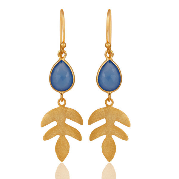 YUCCA earrings in reclaimed 22k gold vermeil