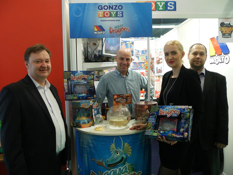 Gonzo Toys team presenting Aqua Dragons at the Polish Toy fair 2017