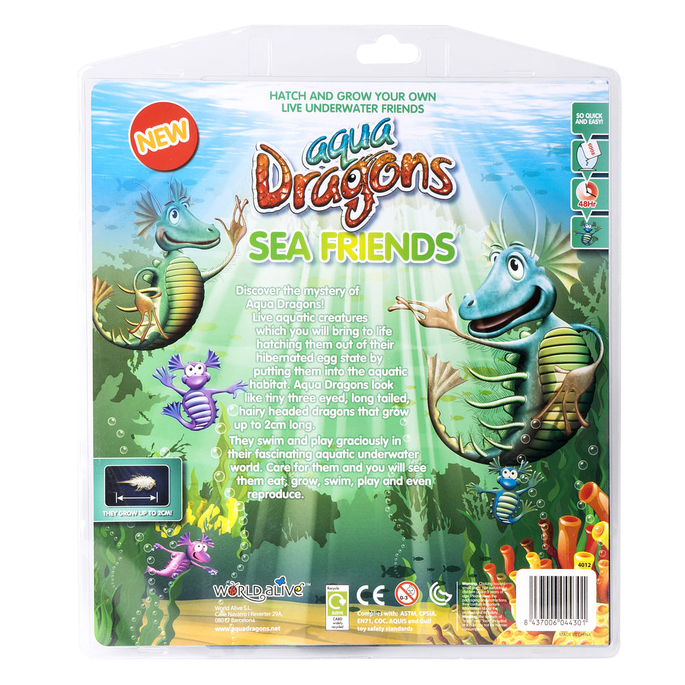 Book: Sea Friends with Special Edition Aqua Dragons kit