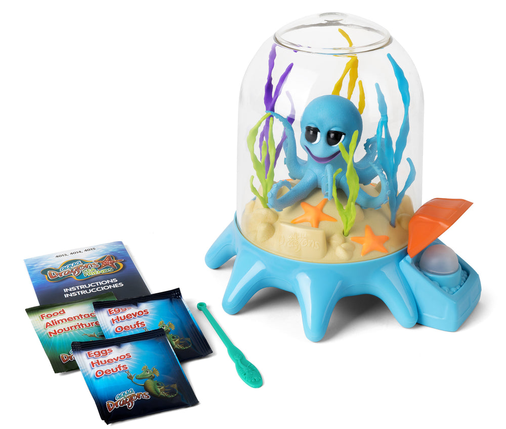 Aqua Dragons Sea Friends Octopus Garden pecera con bomba de aire