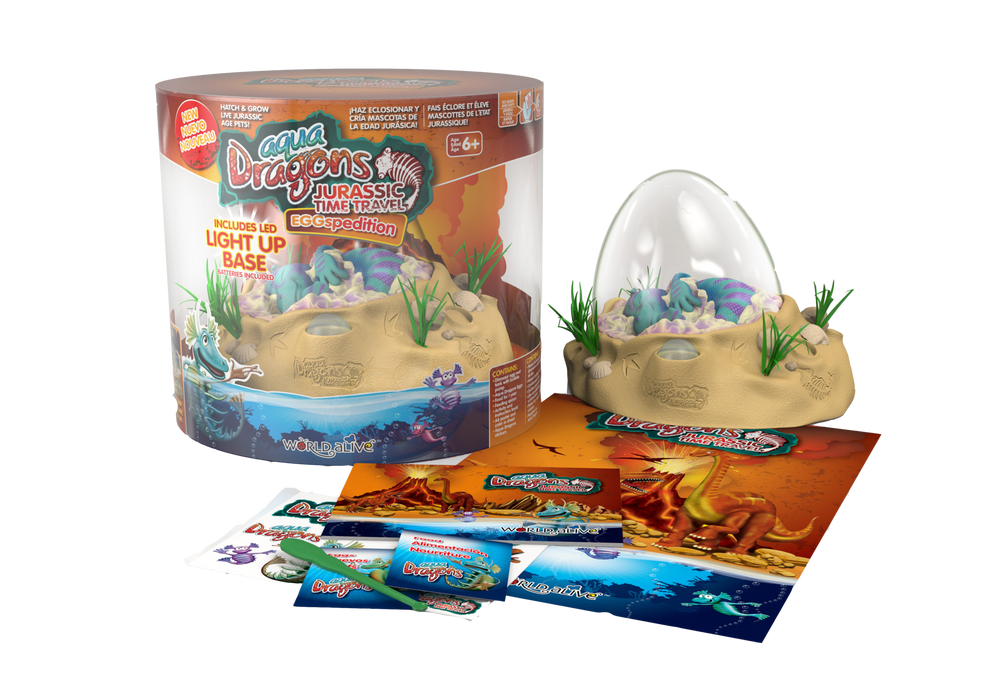 Load image into Gallery viewer, Aqua Dragons Jurassic Time Travel Eggspedition with LED lights