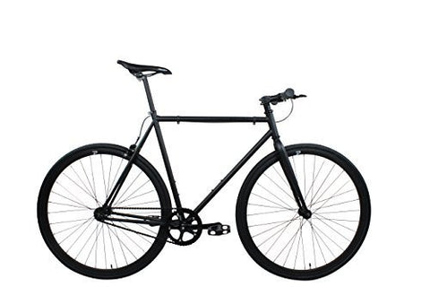 Projekt Fixie - Shadow Fixed Gear City Bike Bicycle with Straight Handlebar, Matte Black