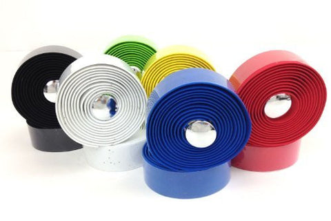 Projekt Fixie - Comfort Cork Road Bike Handlebar Tape with Reflective Bar Plugs