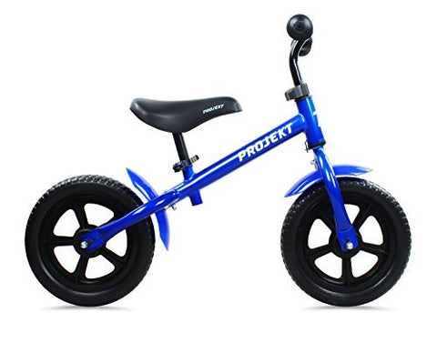 "Projekt - Kid's 12"" Balance bike Training No Pedal Bicycle for Children, Boys or Girls, Blue"