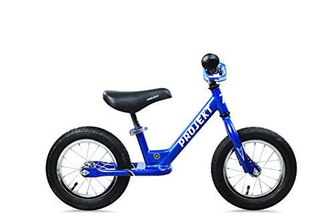 "Projekt - Kid's 12"" Balance Training Bike No Pedal Bicycle for Children, Boys or Girls, Blue"