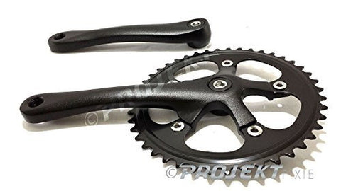 Projekt Fixie - Fixed-Gear Crank Single-speed Road Bicycle Forged Crankset 44T, 46T, 48T 170mm
