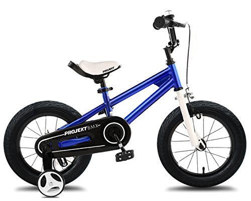"Projekt - Kids Bikes 14"" BMX Freestyle Bicycle, Boys Bikes, Girls Bikes, Gifts for Kids, Blue"