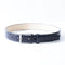 [Croco Pattern Leather] <br>35mm belt<br>color: Ink Blue