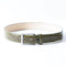 [Croco Pattern Leather] <br>35mm belt<br>color: Khaki