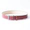 [Croco Pattern Leather] <br>35mm belt<br>color: Red