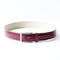 [Croco Pattern Leather] <br>35mm belt<br>color: Wine Red