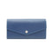 [French calf] <br>Flap long wallet<br>color: Ink blue