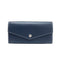 [French calf] <br>Flap long wallet<br>color: Navy x Off white stitch