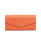 [French calf] <br>Flap long wallet<br>color: Orange