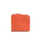 [French calf] <br>Half L zip wallet<br>color: Orange
