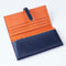 [Yamato] <br>Long wallet with belt <br>color: Navy x Orange<br>[Order sales]