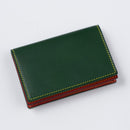 [Yamato] <br>Combi Through gusset card case <br> color: Tartan green x Red