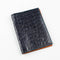 [Croco pattern leather] <br>B6 notebook cover<br>color: ink blue