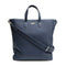 [Shrink leather]<br>Shoulder tote bag<br>color: Navy x Off-white stitch
