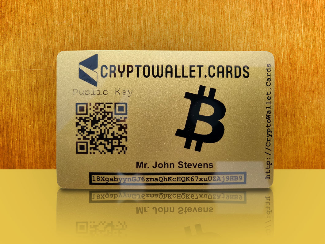 Personalized Bitcoin Cold Storage Wallet Card - CryptoWallet.Cards