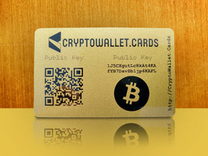 Bitcoin Cold Storage Wallet Card - CryptoWallet.Cards