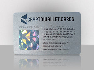 Ethereum Cold Storage Wallet Card - CryptoWallet.Cards