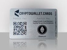 Load image into Gallery viewer, Ethereum Cold Storage Wallet Card - CryptoWallet.Cards