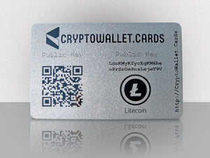 Litecoin Cold Storage Wallet Card - CryptoWallet.Cards