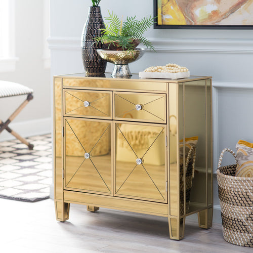 Mirage Gold Mirrored Chest