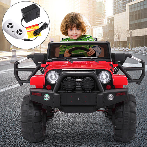 12V Ride On Car Kids W/ MP3 Electric Remote Control Red