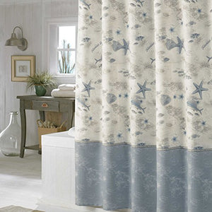 Madamoiselle Seashell Shower Curtain,Waterproof Polyester Fabric - EK CHIC HOME