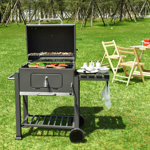 Charcoal Barbecue  Grill Outdoor W/Wheels Portable