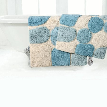 Pebbles 2 Piece Bath Rug Set - EK CHIC HOME